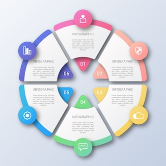 Circle business infographic