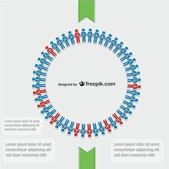 Attività cerchia di persone vettore
