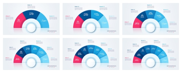Circle chart design, modern templates