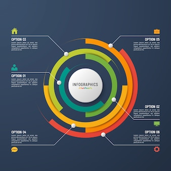Circle chart infographic template for data visualization.