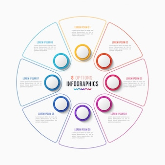 Circle chart infographic template for presentations, adve