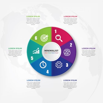 Circle chart infographic template