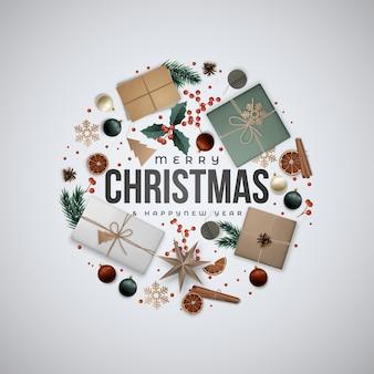 Рождественские композиции круг