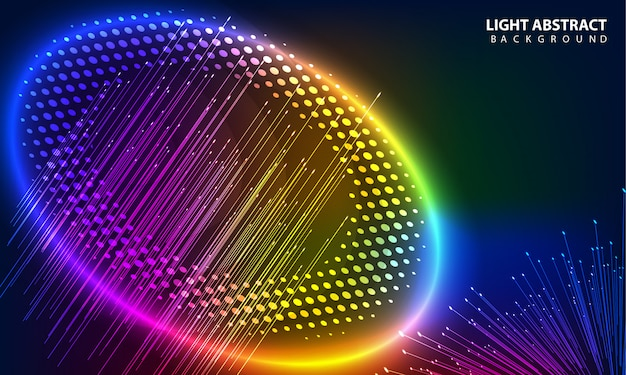 Circle colorful glowing background