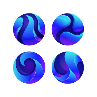Circle colorful  logo template