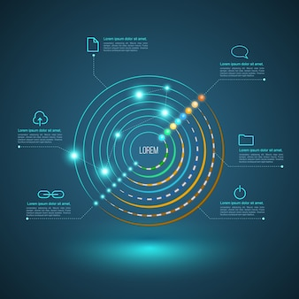 ネットワークケーブルの概念のための円接続