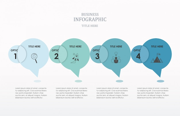 Circle conversation  infographics number options.