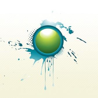 Circle design on splatter background