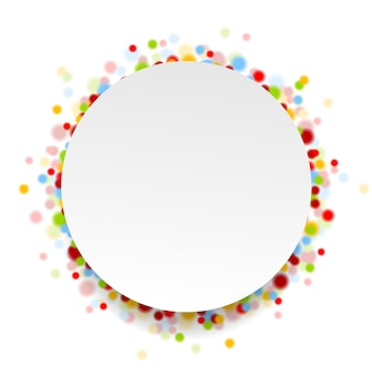 Circle design with shiny light confetti. vector background