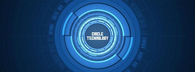 원형 디지털 배경 스마트 렌즈 기술 중첩 레이어 조명 효과 디자인 개념