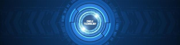 원 디지털 기술 화살표는 배경 스마트 렌즈 겹침 레이어 디자인 개념을 가속화합니다.