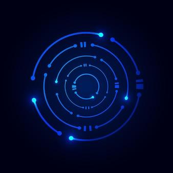 Circle digital technology for logo design template