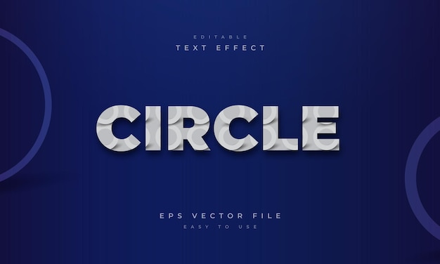 Circle editable text effect with round patte
