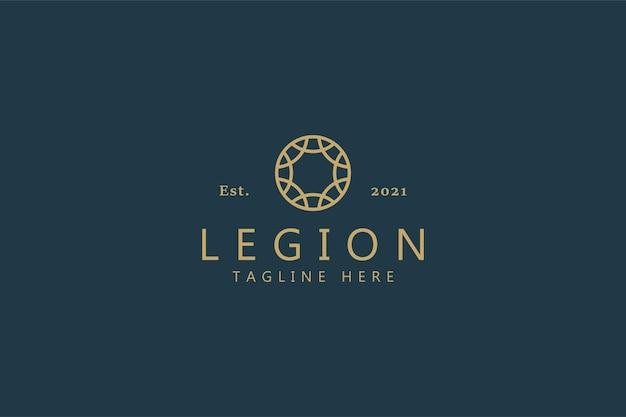 Круглый этнический орнамент с логотипом ювелирные изделия, мода, бутик, красота, гостиница, недвижимость для деловой компании.