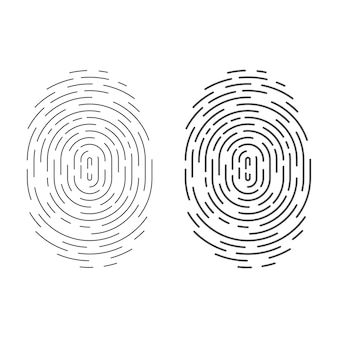 分離された円指紋アイコン