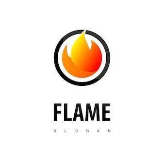 원형 불꽃 로고