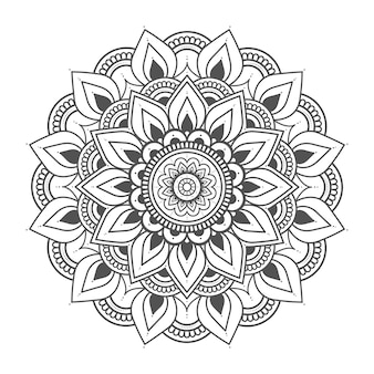 Circle floral mandala illustration for decoration