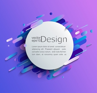 Circle frame with dynamic rounded shapes