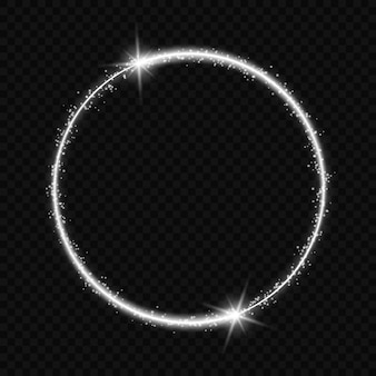 Circle frame with light effect.