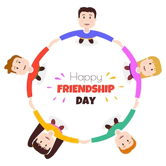 Circle of friends of international friendship day