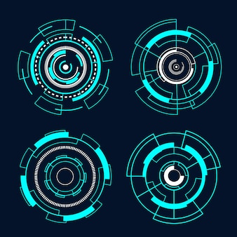 Circle futuristic interface technology hud vector design.