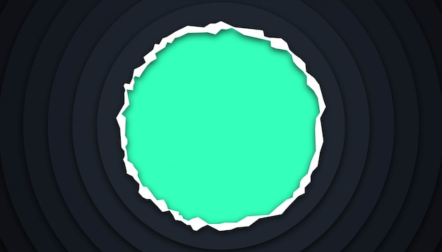 Circle geometric background with paper cut shapes