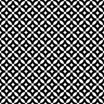 원 기하학적 꽃 패턴 프리미엄 벡터