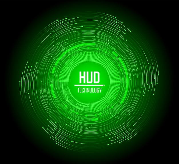 Круг зеленый кибер цепи будущей технологии концепции фон