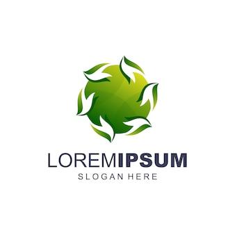 Circle green logo vector