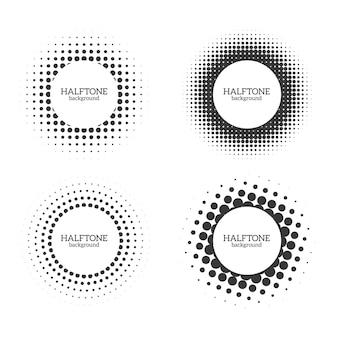 의료 또는 화장품 로고 또는 포스터에 대한 원형 하프톤 모양 라운드 도트 그런지 효과