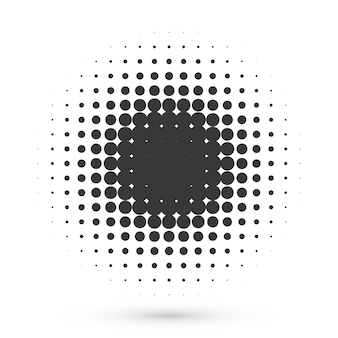 Circle halftone shape. round dot grunge effect for medical or cosmetic logo or poster