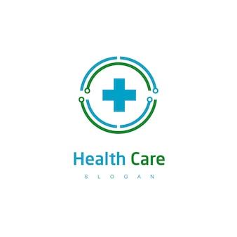 Circle hospital logo design template