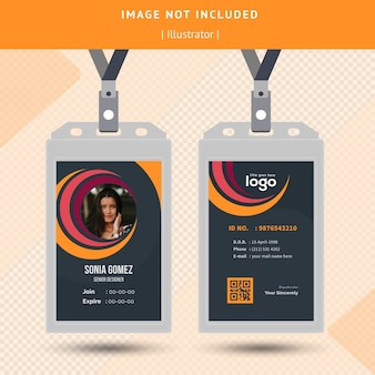 Circle id card design