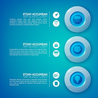 Circle infographic business concept