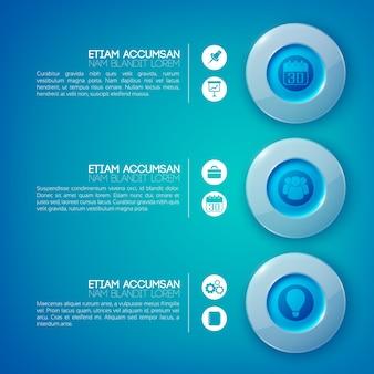 Круг инфографики бизнес-концепция