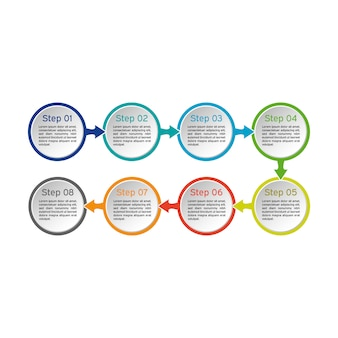 サークルインフォグラフィック。ビジネス図、プレゼンテーション、およびグラフ。バックグラウンド。