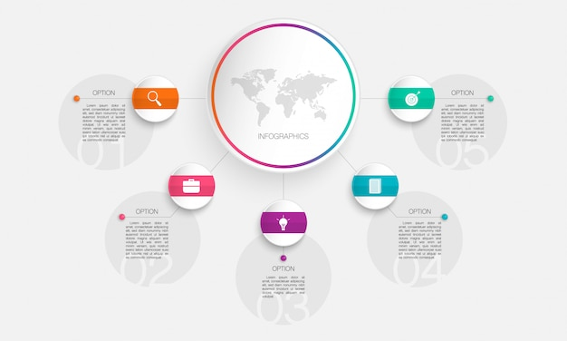 Circle infographic,  illustration can be used for business, start up, education, plan, with  steps, options, parts