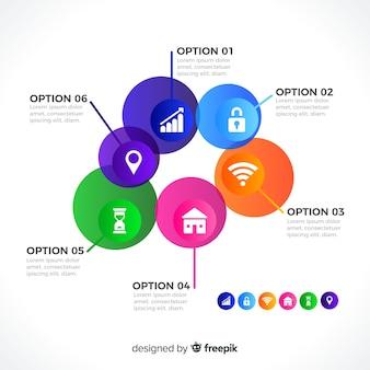Circle infographic modern design