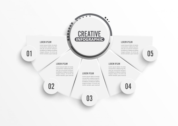 Circle infographic template five option