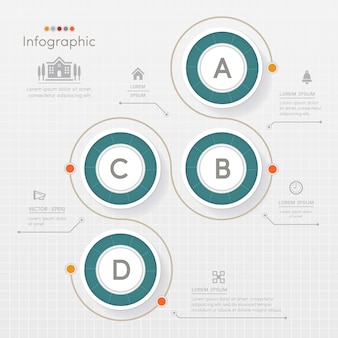 Circle infographics design template with icons