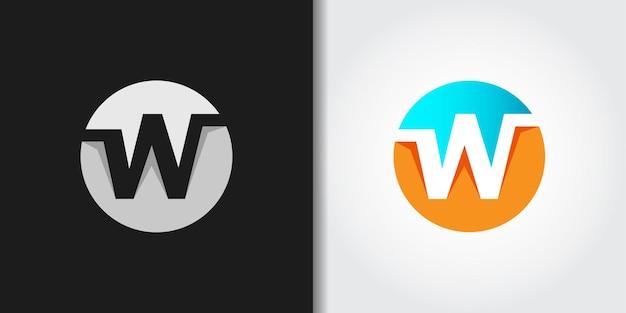 Circle initial w logo
