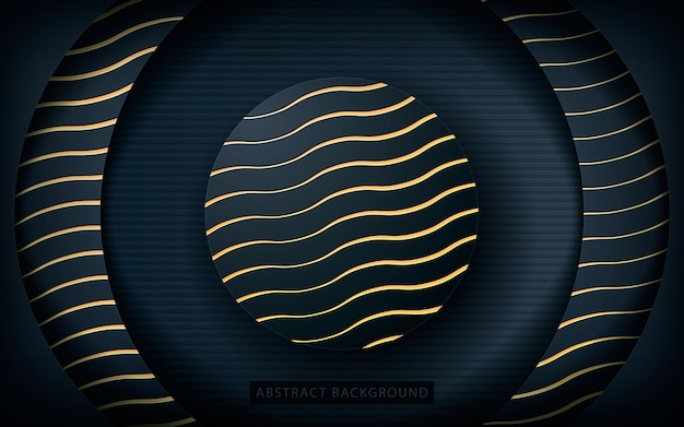 Circle layer background with golden texture