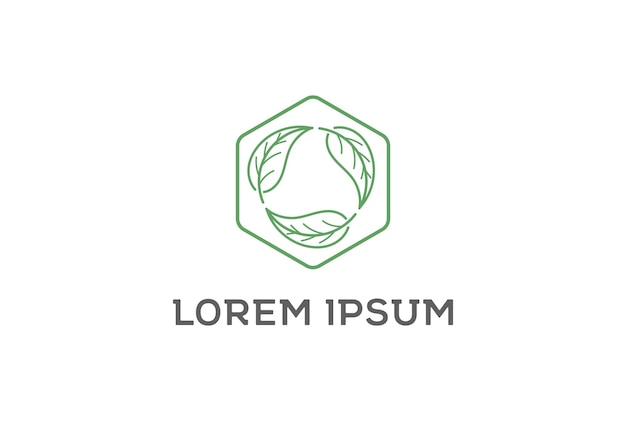 Круг листьев листья рециркулировать окружающей среды дизайн логотипа вектор
