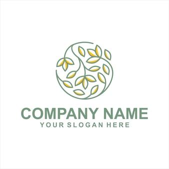 Круг листьев логотип вектор