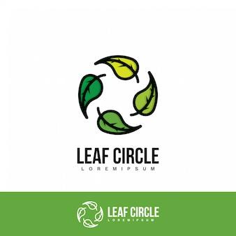 円の葉のロゴ