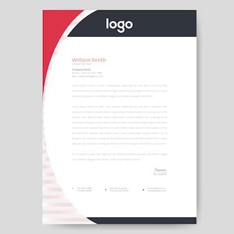 Круглый дизайн головки письма