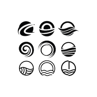 Circle logo design icon set