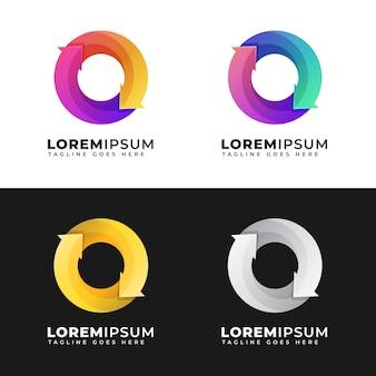 Circle logo template pack