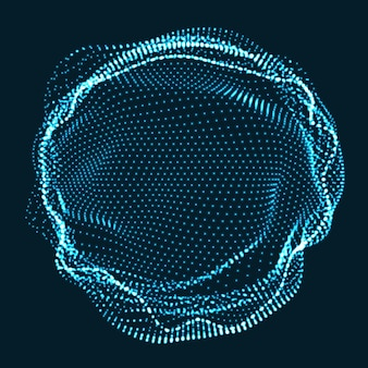 Круг из неоновых частиц