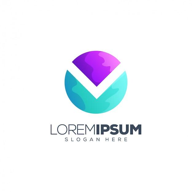 Круглый дизайн логотипа почты